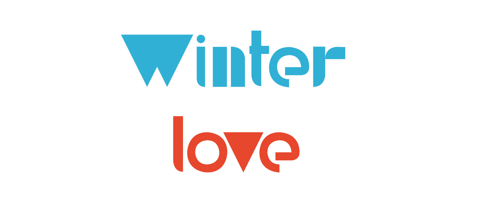Winter and love text
